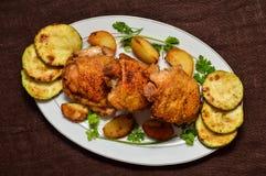 炸鸡用绿皮胡瓜 库存照片