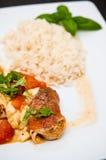 炸鸡用schwarzwald火腿和无盐干酪乳酪 库存照片