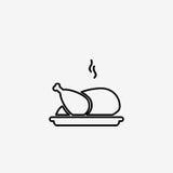 炸鸡简单的平的传染媒介例证象图片