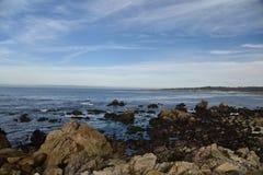 点乔, Pebble海滩, 17英里驱动,加利福尼亚,美国 免版税库存照片