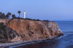 点在兰乔帕洛斯Verdes加利福尼亚的Vincente夜 免版税图库摄影