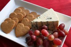 点心乳酪和姜饼 免版税库存图片