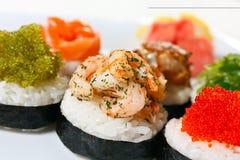 点心寿司 库存照片
