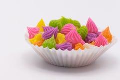 点心甜泰国 由小麦面粉做的Aalaw糖果,鸡豆 免版税库存图片