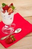 点心用成熟草莓 免版税图库摄影