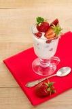点心用成熟草莓 免版税库存照片