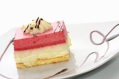 点心草莓甜点 免版税库存照片