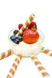 点心草莓酸奶 免版税库存图片