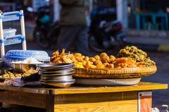 点心,在缅甸(Burmar)的kalaw 库存照片