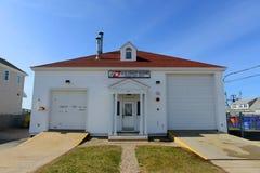 点朱迪思海岸卫队驻地, Narragansett, RI 免版税库存照片