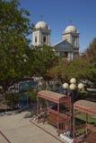 12点活字的历史的教会在阿塔卡马沙漠 免版税图库摄影