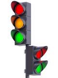 点燃公路交通 免版税图库摄影