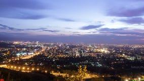 点燃城市 阿尔玛蒂,哈萨克斯坦 时间间隔 股票视频
