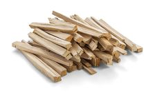 点燃的木头 免版税库存照片