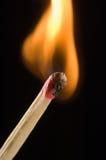 点燃的火柴 免版税图库摄影