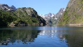 点燃trollfjord 免版税库存图片