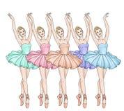 点的芭蕾舞女演员 库存例证