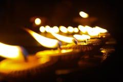 点蜡烛的晚上 库存照片