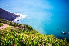 点雷耶斯全国海滨风景在加利福尼亚 免版税库存图片