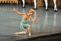 点头答礼的美丽的芭蕾舞女演员舞蹈家 库存图片