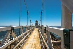 点Bonita灯塔,旧金山湾 库存图片