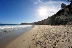 点Dume海滩 库存照片