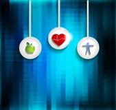 锻炼、健康饮食和心血管健康 皇族释放例证