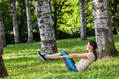 锻炼妇女 免版税图库摄影