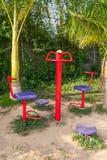 锻炼机器在公园 库存图片