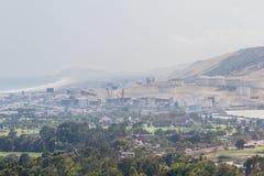 炼油厂在秘鲁 库存图片