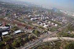 炼油厂天空 库存照片