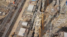 炼油厂植物建设中50p天线  影视素材