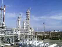 炼油厂 库存图片