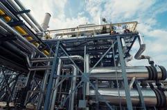 炼油厂 免版税库存照片