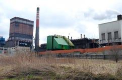 炼焦厂,波兰 免版税库存照片