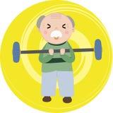锻炼祖父 免版税库存图片