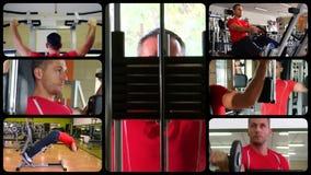 锻炼编辑的序列 股票录像