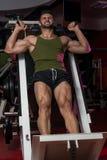 锻炼腿新闻 免版税库存图片