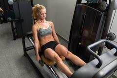 锻炼腿新闻 图库摄影