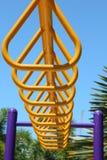 锻炼设备在公园 免版税图库摄影