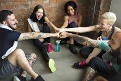 锻炼锻炼健身健康概念 图库摄影