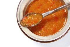 烂醉如泥的辣椒,泰国调味料 免版税图库摄影