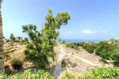 烈士城堡,朱拜勒,黎巴嫩 免版税库存照片