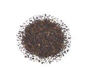 烘干叶子堆茶 免版税库存照片