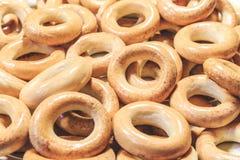 烘干小麦面粉关闭  俄国食物 免版税库存图片