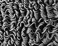 烘干方便面纹理背景, Abstrack艺术, B&W 免版税图库摄影