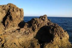 烘干被硬化的熔岩岩石 库存照片
