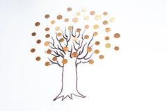 烘干贪污来的钱结构树 免版税库存图片