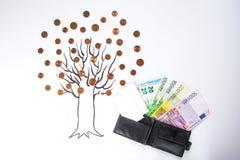 烘干贪污来的钱结构树 库存照片
