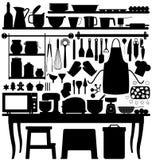 烘烤厨房酥皮点心工具 免版税图库摄影